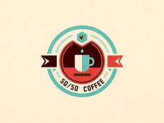 Dribbble - 50/50 Coffee by szende brassai #coffee #logo #branding