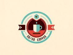 Dribbble - 50/50 Coffee by szende brassai #coffee #logo #branding