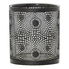 Jans Black Metal Swirl Hurricane Candle Holder 10 cm