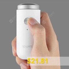 Soocas #ED1 #Mini #Pocket #Deep #Clean #Electric #Shaver #IPX5 #Waterproof #from #Xiaomi #youpin #- #MILK #WHITE