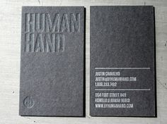 Human Hand Business Card - Beast Pieces #business #branding #letterpress #identity #cards