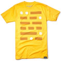 TELEGRAPH (GOLD) #clothing #apparel #dash #yellow #tshirt #telegraph #minimal #gold #fashion #dot