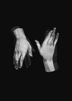 . figure perspective #white #and #black #photography #hands #overlay