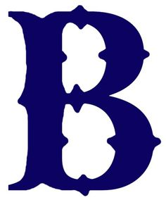 Boston Braves Primary Logo (1921) A navy blue 'B' #boston #braves #primary #logo #1921 #navy #blue