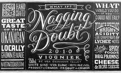The Case and Point | Dana Tanamachi for Nagging Doubt #tanamachi #lettering #typography