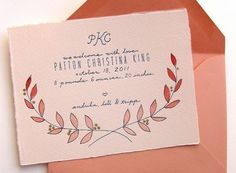 Oh So Beautiful Paper: A Paper Blog –Unique and Custom Wedding Invitation Ideas and Modern Stationery #cards #wedding #typography