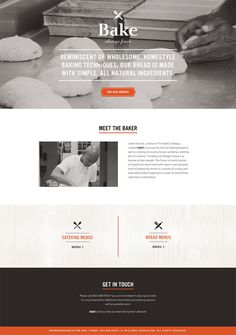 Bake One Page Website #web #ui
