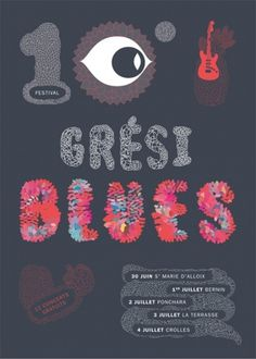 Festival blues Grésiblues : Julie Rousset #illustration #design #poster