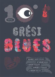 Festival blues Grésiblues : Julie Rousset #illustration #design #poster