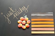 DIY Striped Ombre Party Favor Bags #yellow #orange #to