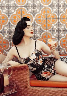 dita von teese // cointreau | love this set floral & snow leopard print together look pretty nice! #lingerie #photo #wall #burlesque #patterns #dita