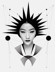 Black and White Digital Portraits