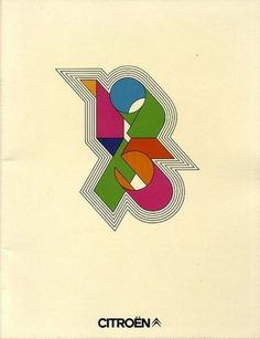 Ad from1975 for Citroën | Ubersuper #vintage #poster #typography