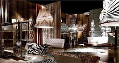 Artistic nterior with Roberto Cavalli's Home collection #accessories #artistic #collection #home #furniture #cavalli #art #roberto