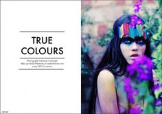 True Colours | Volt Café | by Volt Magazine #beauty #design #graphic #volt #photography #art #fashion #layout #magazine #typography