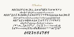 Ithaka typeface (font) designed by Thoma Kikis. Teknike.com - #ithaka #ithaca #typeface #font #kikis #thomakikis #handwriting #greek #latin #cyrillic #teknike