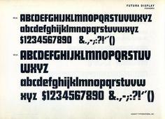 Futura Display type specimen #futura #display #typography