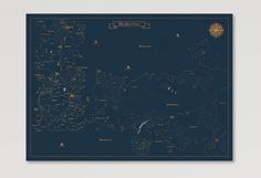 GAME OF THRONES MAP OF THE WORLD POSTER