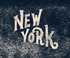 New York Typography #type #lettering