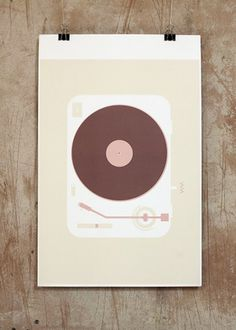 Vinyl Record #analog #turntable #record #augustforeman #vinyl #illustration #minimal