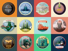 Impossible Magnets on Behance #b612 #imans #impossible #kings #monkey #island #skull #mordor #hill #park #oz #gray #valley #castle #atlantis #city #neverland #souvenirs #jurassic #star #death #heymikel #magnets #gotham