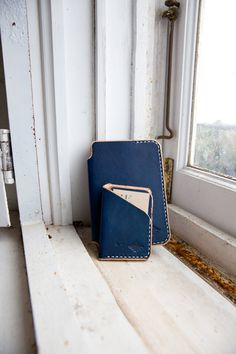 Nautical leather goods from Flume Leather Co #leather #goods #craftsmanship #navy #blue