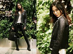 Zara Jacket, Zara Shirt, Prada Bag, Rules By Mary Belt, Gina Tricot Pants, Vagabond Boots #fashion #photography #woman