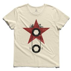 #on the stars #beige #tee #tshirt #doors #morrison #star #cassette #beige #redstar #music