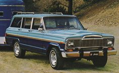 Wedgewood Blue 1979 AMC Jeep Wagoneer two-tone over Ensign Blue #cherokee #sj #jeep