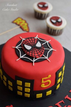- spiderman cakes