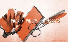 Untitled | Flickr - Photo Sharing! #sissors #rock #design #graphic #illustration #paper