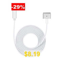 USB-C #to #Magsate #2 #T-Tip #Power #Adapter #Cable #for #Macbook #Pro #/ #MacBook #Air #- #WHITE