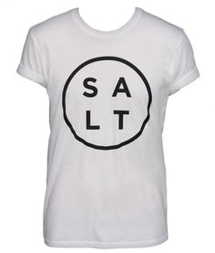 SALT SURF — Salt Logo Tee - White #tshirt #salt #surf