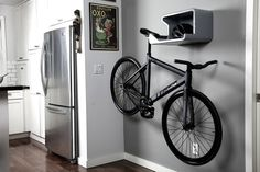 With a home bike hanger, you not only keep bike scratch free, you also turn your bike into a wall art. #product #lifestyle #design #industrial
