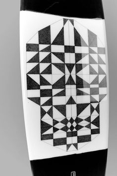 I'm A Ok MonoBrow #surf #skull #art #surboard