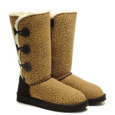 Ugg Women Bailey Button Triplet Leopard 1873 Chestnut #triplet #button #bailey #women #ugg