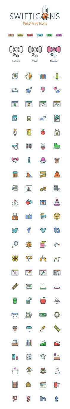 SwiftIcons : 288 Free High Quality Icons