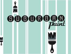 Design- Suburaban #retro #paint #poster #logo #typography