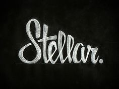 Stellar. by Zack Smith #design #type #logo #sketch #script