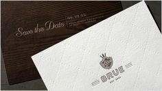 wedding invite design #crest
