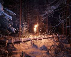Untitled | Flickr - Photo Sharing! #night #photography #fire #snow