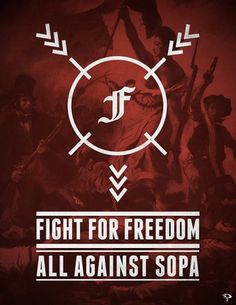V - Anti-SOPA Campaign on the Behance Network #sopa #freedom #fight #poster #against