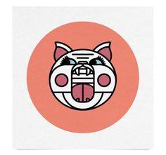 CatPig.png #pig #geometric #illustration #nate #koehler