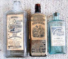 Vintage Pharmacy Bottles #pharmacy #bottles #vintage