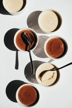 Black and White Chocolate Pudding - Golubka Kitchen