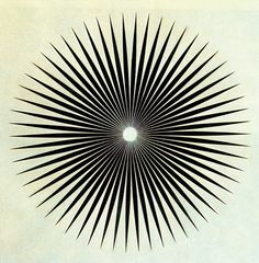 Philip Taaffe, Big Iris, 1985 #graphic design #circle #star #spokes #radial #starburst