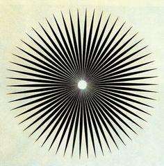 radial Philip Taaffe,Big Iris, 1985 #starburst #radial #design #graphic #spokes #star #circle