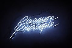 pleasure principle mads perch photography #photography #neon #signage #art direction