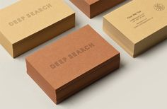 Deep Search #branding #identity #business card