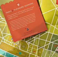 A Parisian Map : Kelli Anderson #paris #design #map #illustration #typography